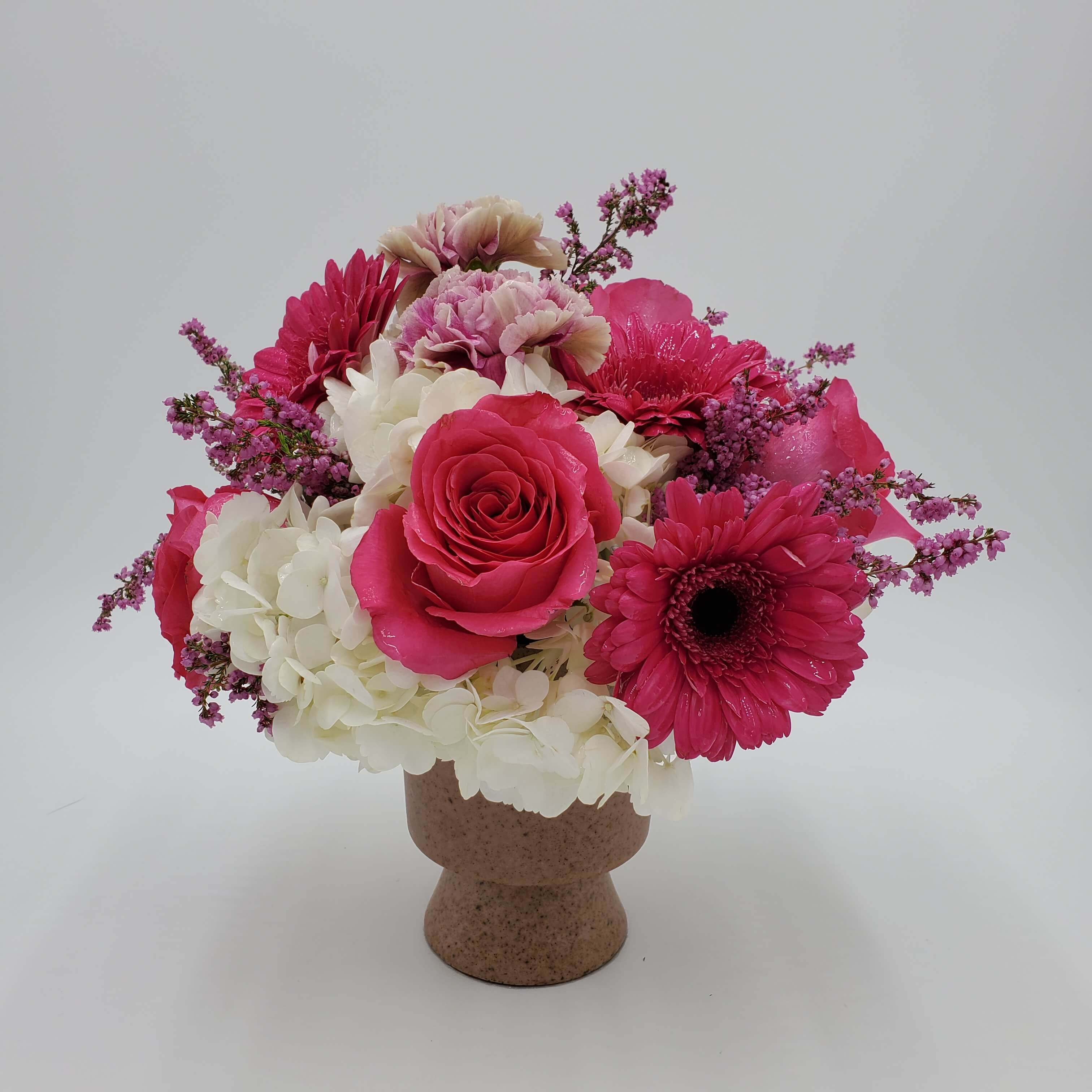 Pink and white Romantic floral design
