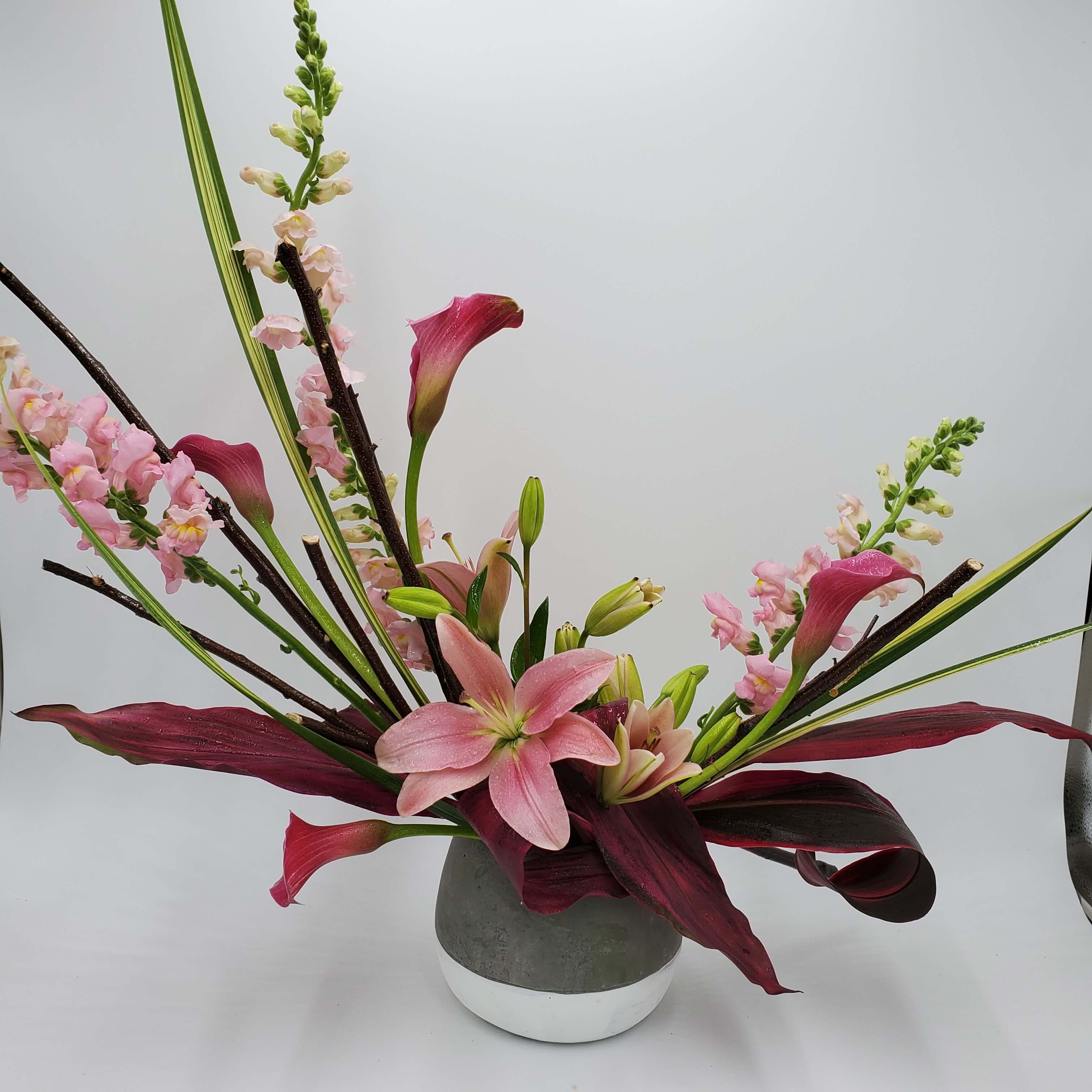Artistic Pink Floral design