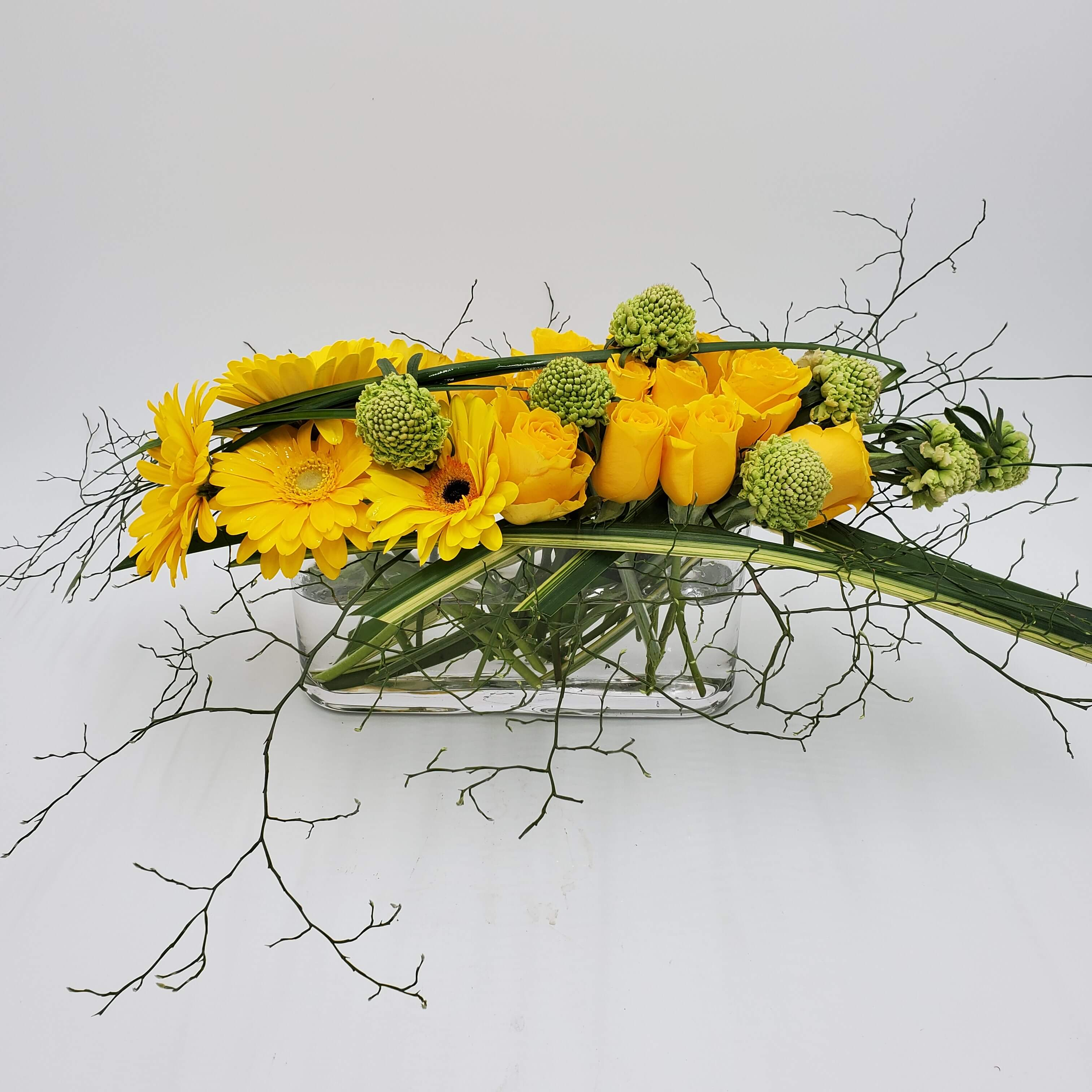 Artistic yellow floral design