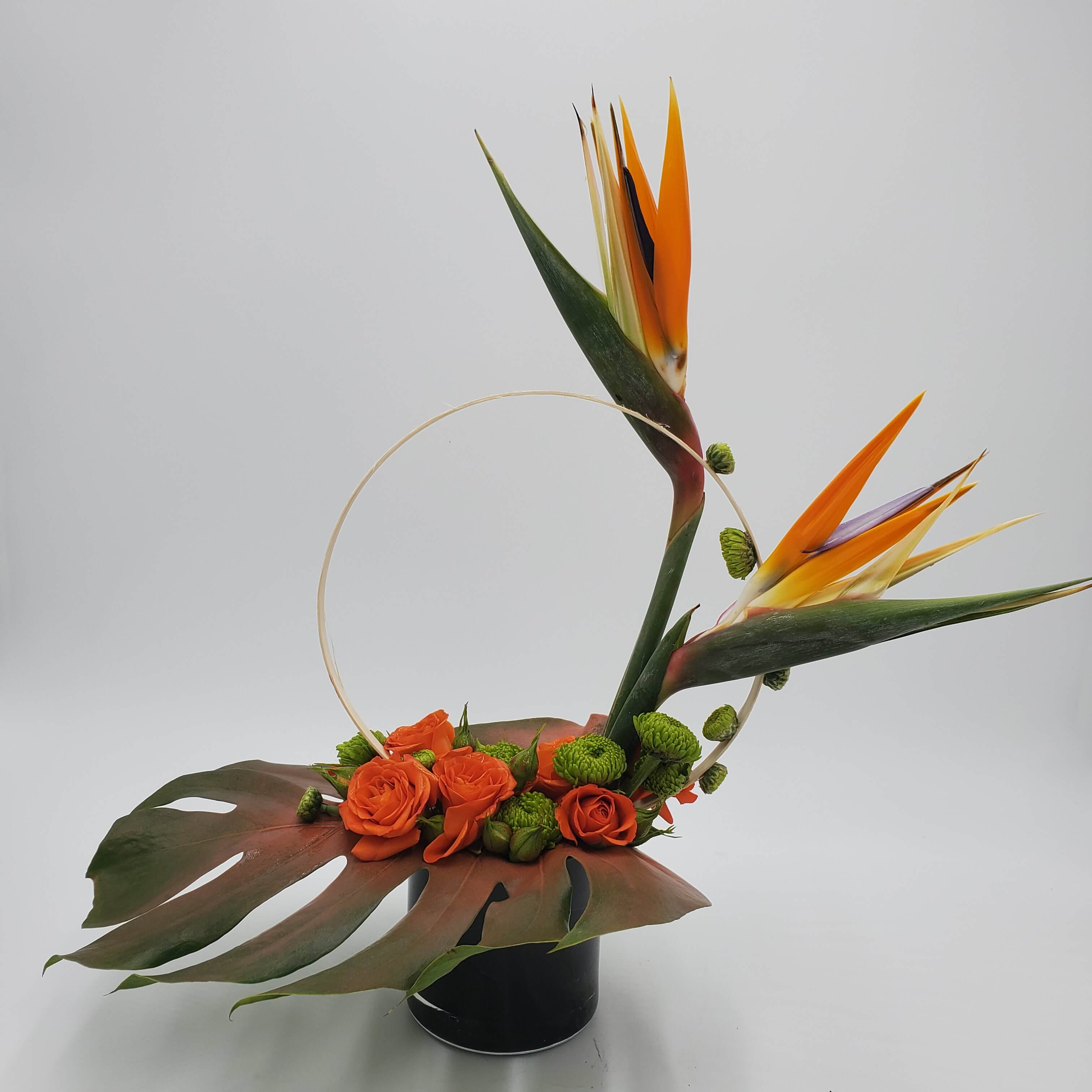 Highstyle floral design birds of paradise