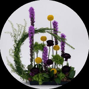 photo of artistic flower arrangement