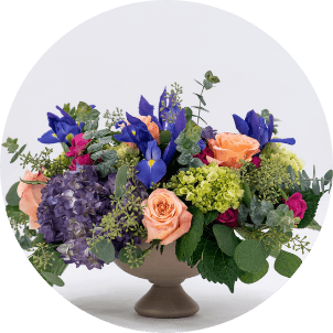 photo of romantic flower arrangement