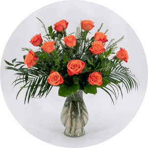 photo of a roses arrangement