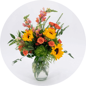 photo of traditional flower arrangement