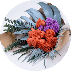 photo of wraps flower arrangement