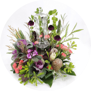 photo of sympathy flower arrangement